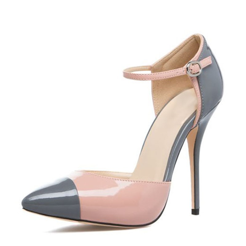 Ericdress Chic Patchwork Point Toe Stiletto Pumps