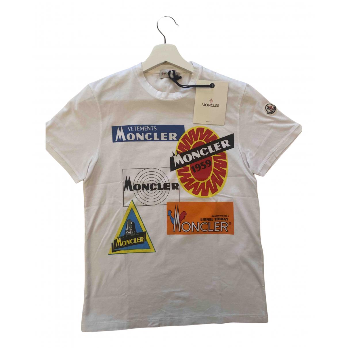 Moncler - Tee shirts   pour homme en coton - blanc