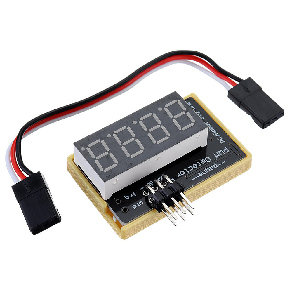 Upgraded PWM Tester Pulse Width Frequency Displayer for Servo Robot Remote Control Flight Controller Debugging Tool Doub