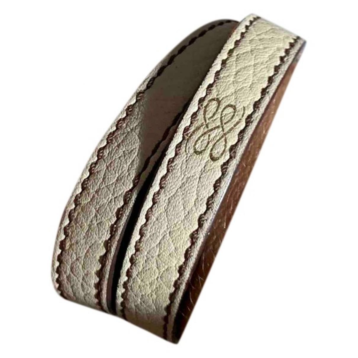 Lancel - Bracelet   pour femme en cuir - beige