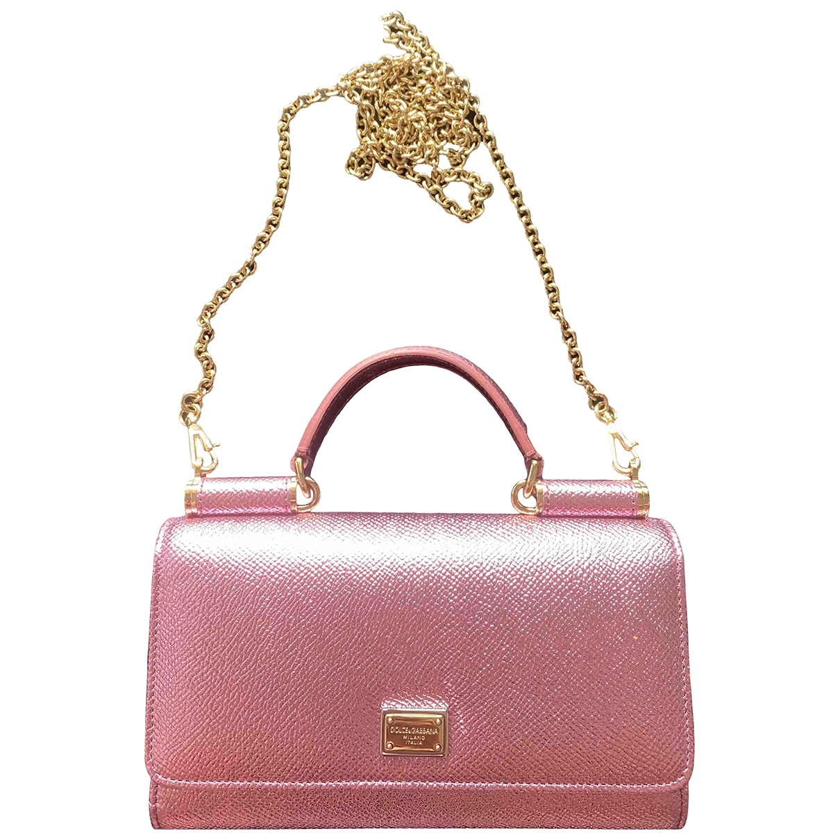 Dolce & Gabbana - Sac a main Sicily pour femme en cuir - rose