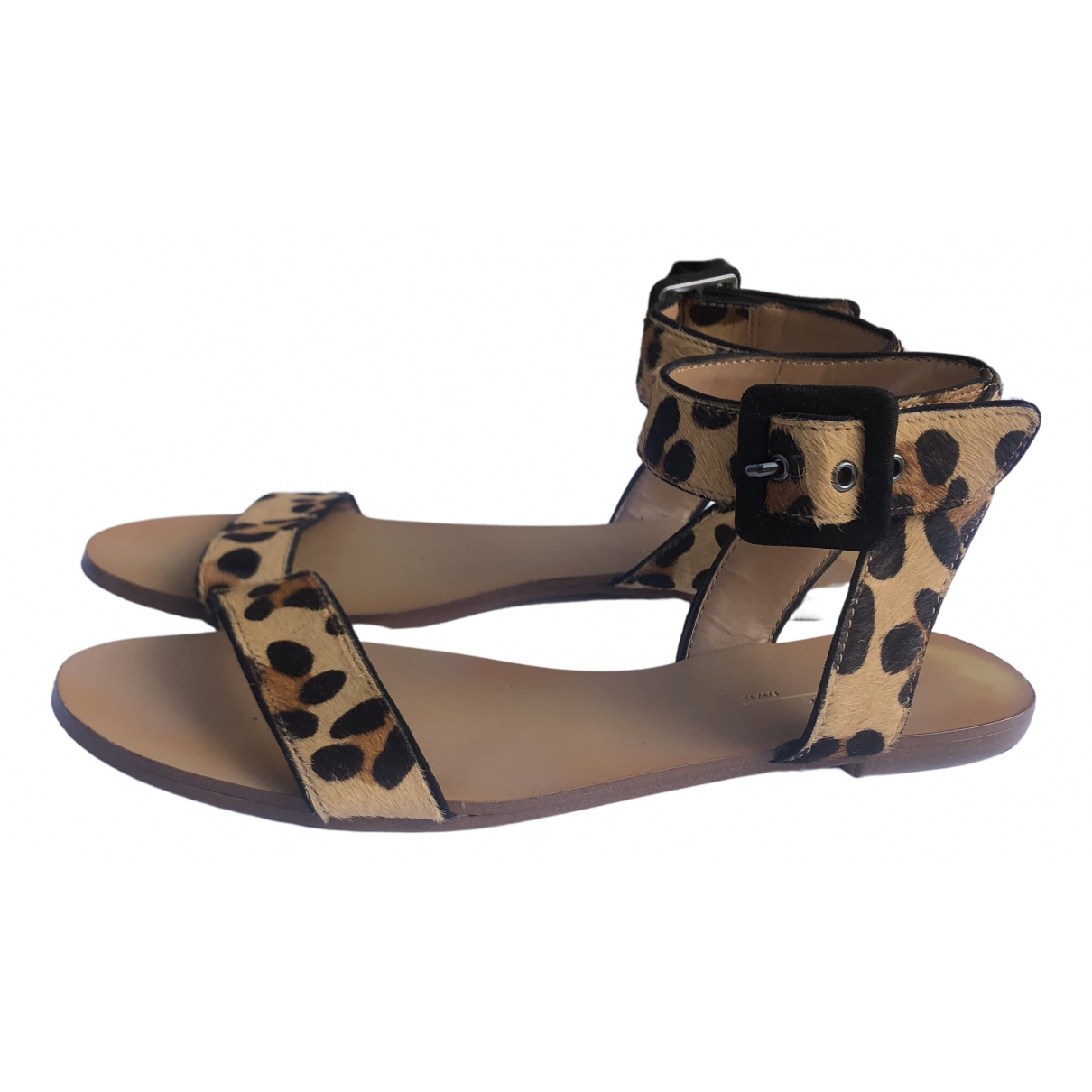 Zara \N Sandalen in Synthetikpelz