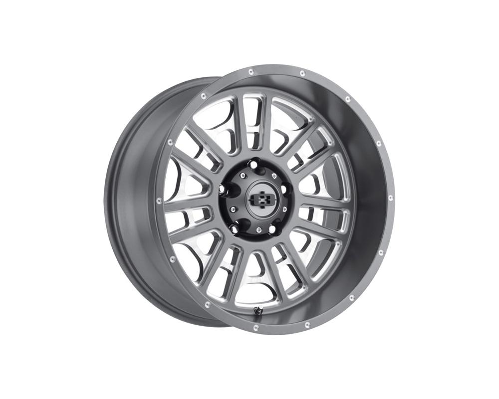 Vision Widow Satin Grey Milled Spokes Wheel 20x12 5x139.7 -51