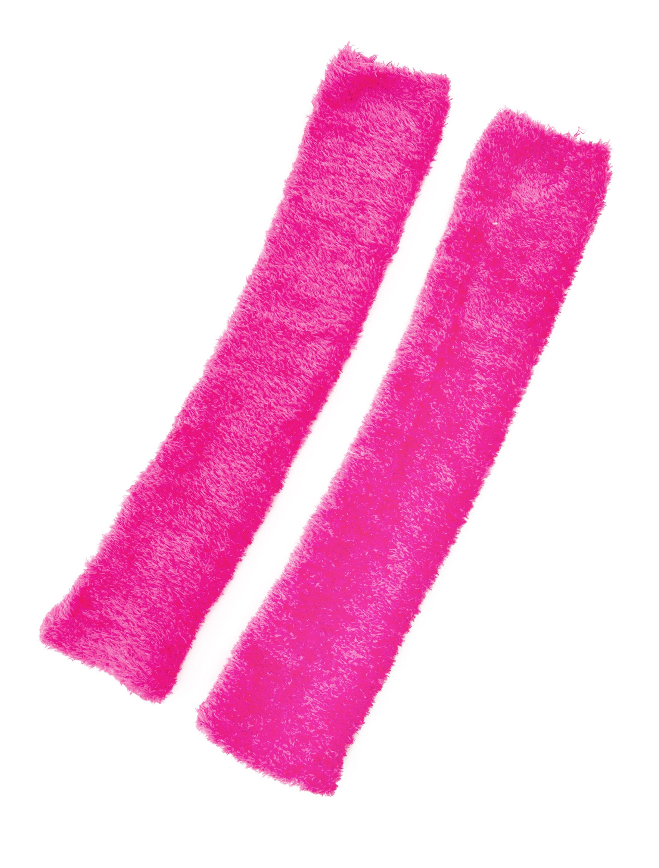 Kostuemzubehor Beinstulpen Flausch neonpink