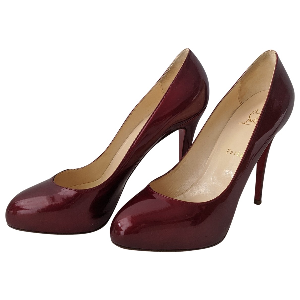 Christian Louboutin Simple pump Red Patent leather Heels for Women 40 EU