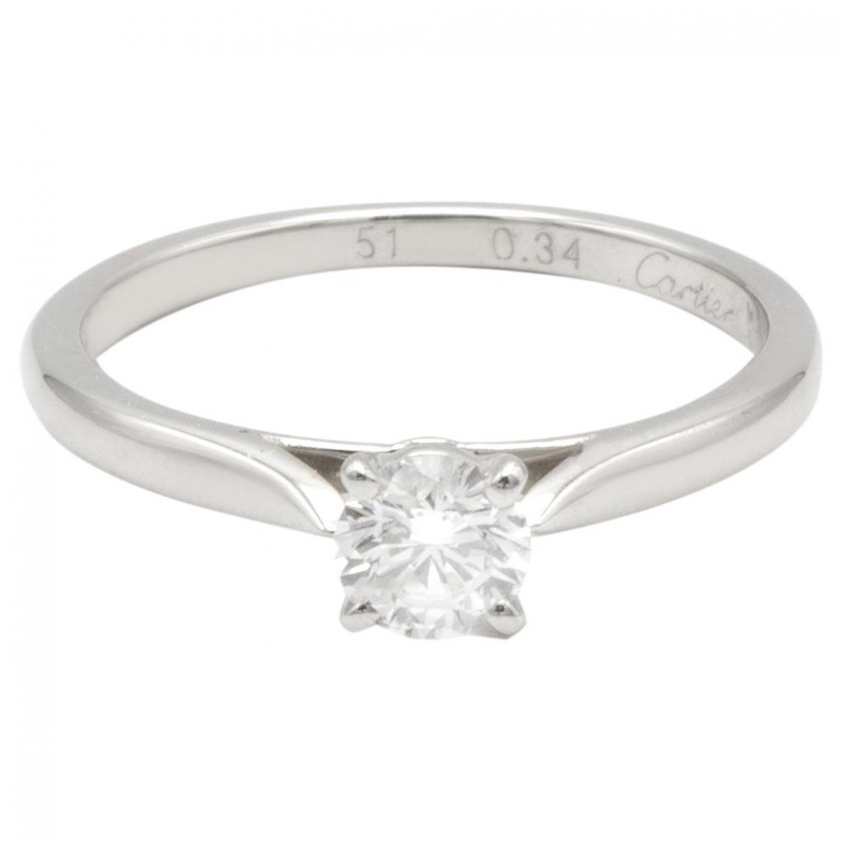 Cartier 1895 Silver Platinum ring for Women 51 EU