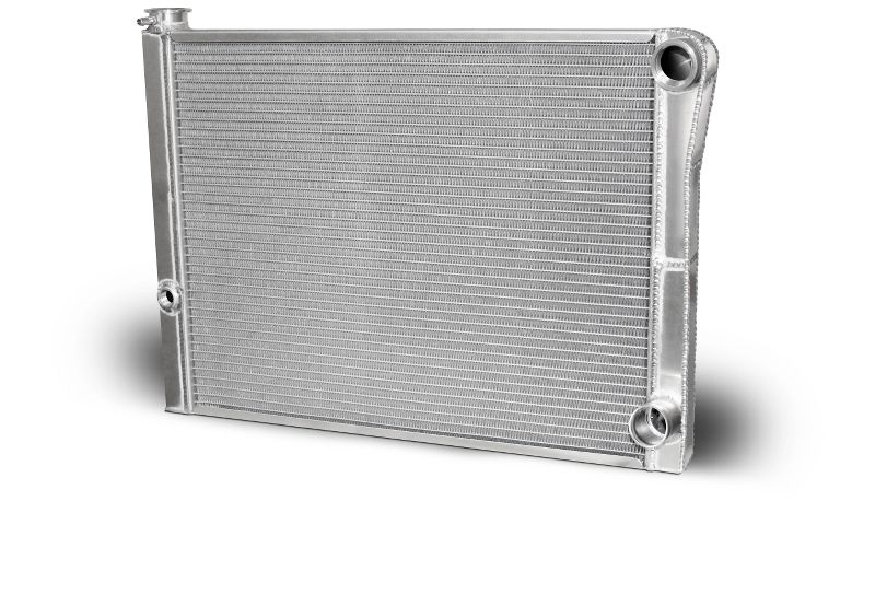 AFCO 80185NDP-U Double Pass Radiator 27.5 X 19 X 1.50 Core Universal 20 AN Female Inlet with 1/2 bung