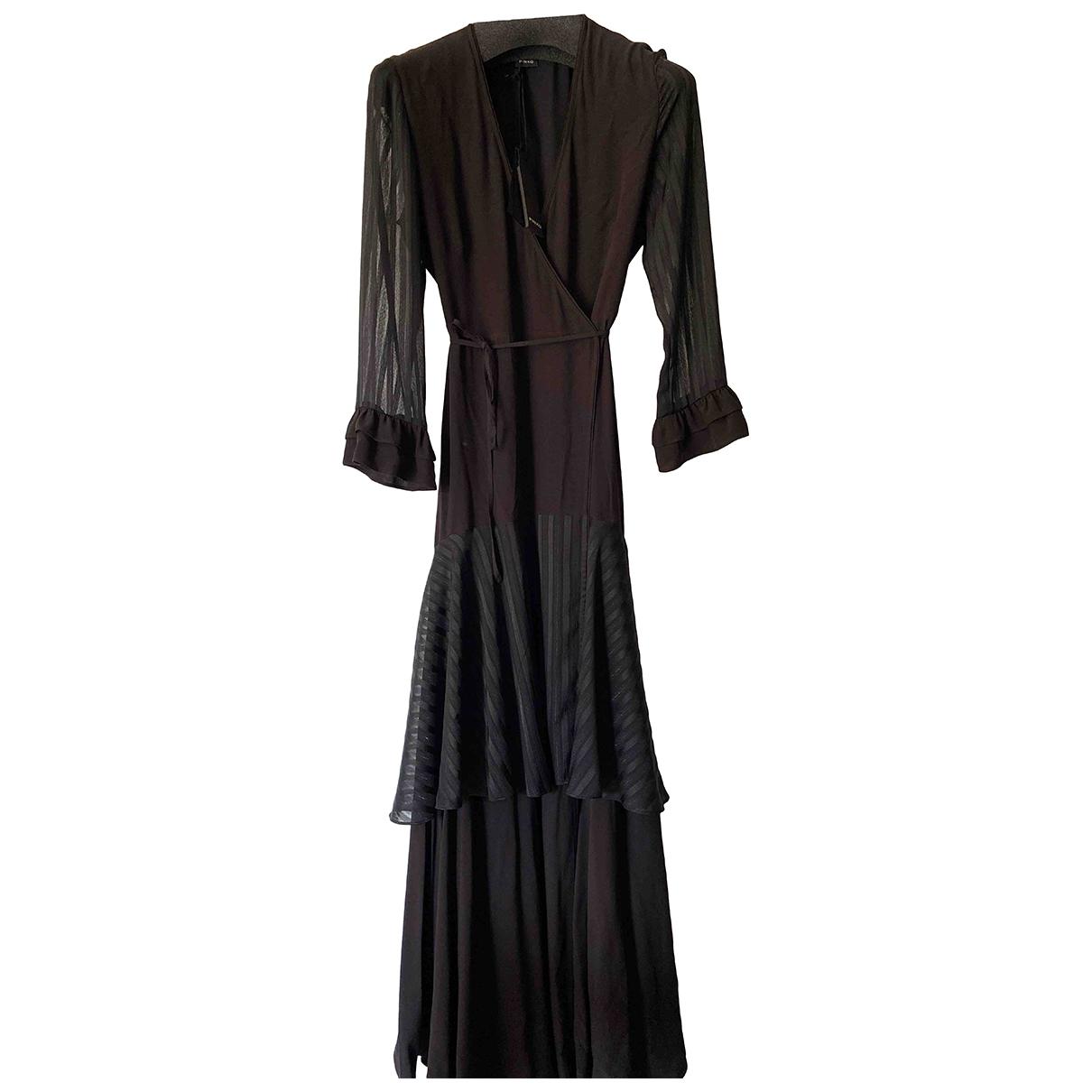 Pinko \N Kleid in  Schwarz Viskose