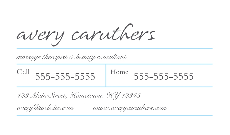 Monogram Business Cards, Set of 40, Silk Rounded, Card & Stationery -Simple Boxes