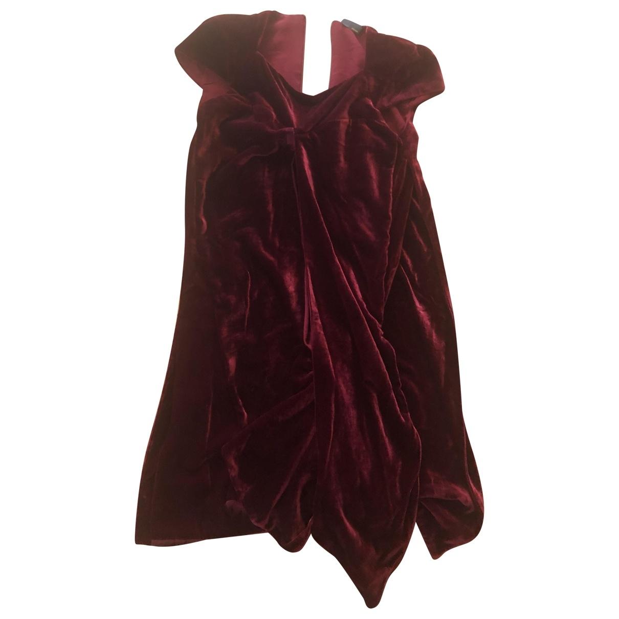 Fendi \N Kleid in  Bordeauxrot Samt