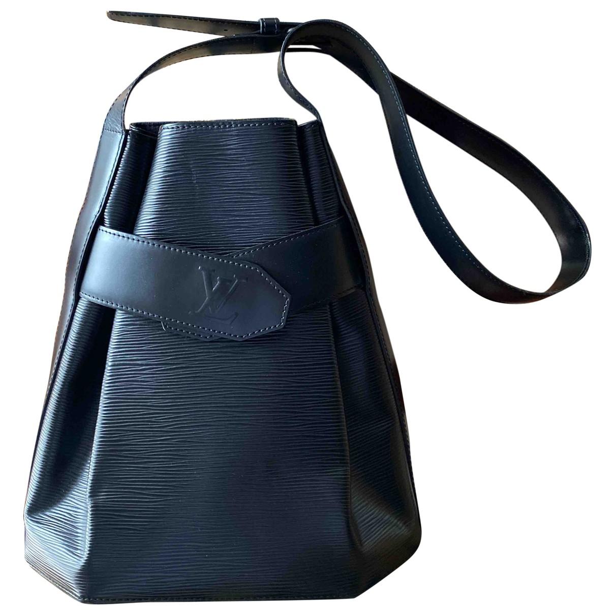 Louis Vuitton Sac d'épaule Black Leather handbag for Women N
