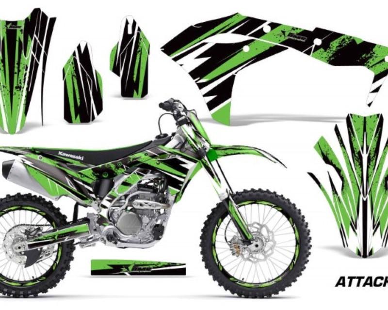 AMR Racing Graphics MX-NP-KAW-KX250F-17-18-AT G Kit Decal Sticker Wrap + # Plates For Kawasaki KXF250 2017-2018áATTACK GREEN