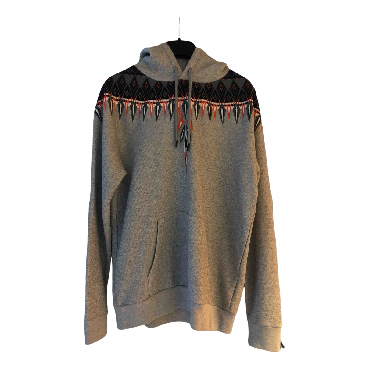 Marcelo Burlon \N Pullover.Westen.Sweatshirts  in  Grau Baumwolle