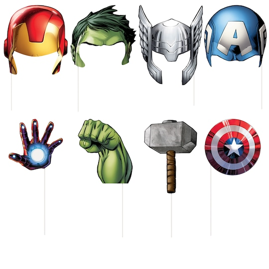 Avengers Photo Booth Props, 8Pc By Marvel   Michaels®