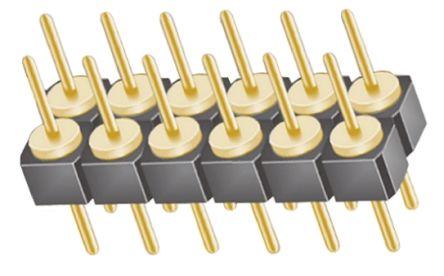 Samtec , TD, 12 Way, 2 Row, Straight Pin Header