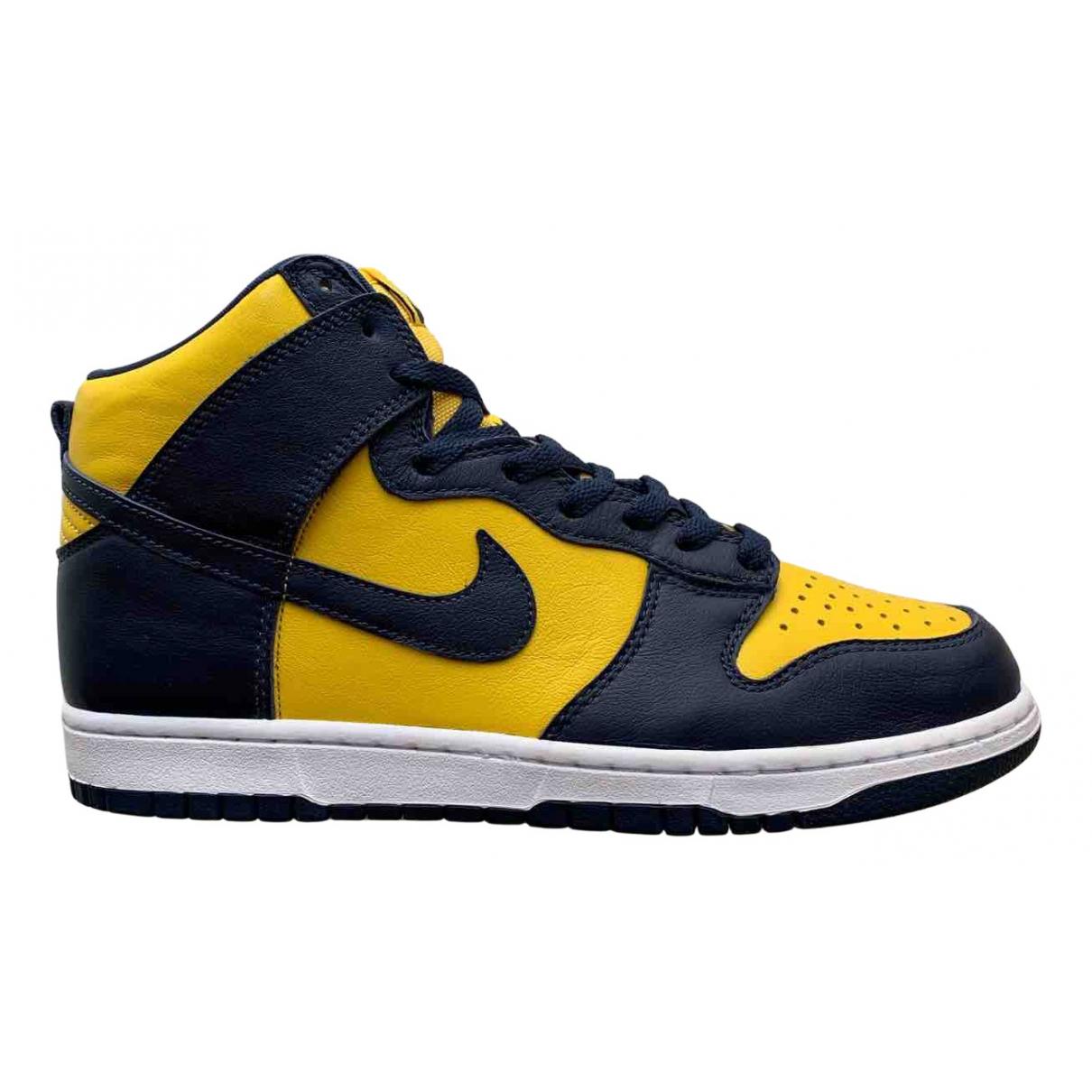 Nike - Baskets SB Dunk  pour homme en cuir - bleu