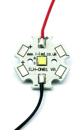 Intelligent LED Solutions ILS ILH-OG01-NUWH-SC221-WIR200., OSLON Square PowerStar Circular LED Array, 1 White LED (4000K)