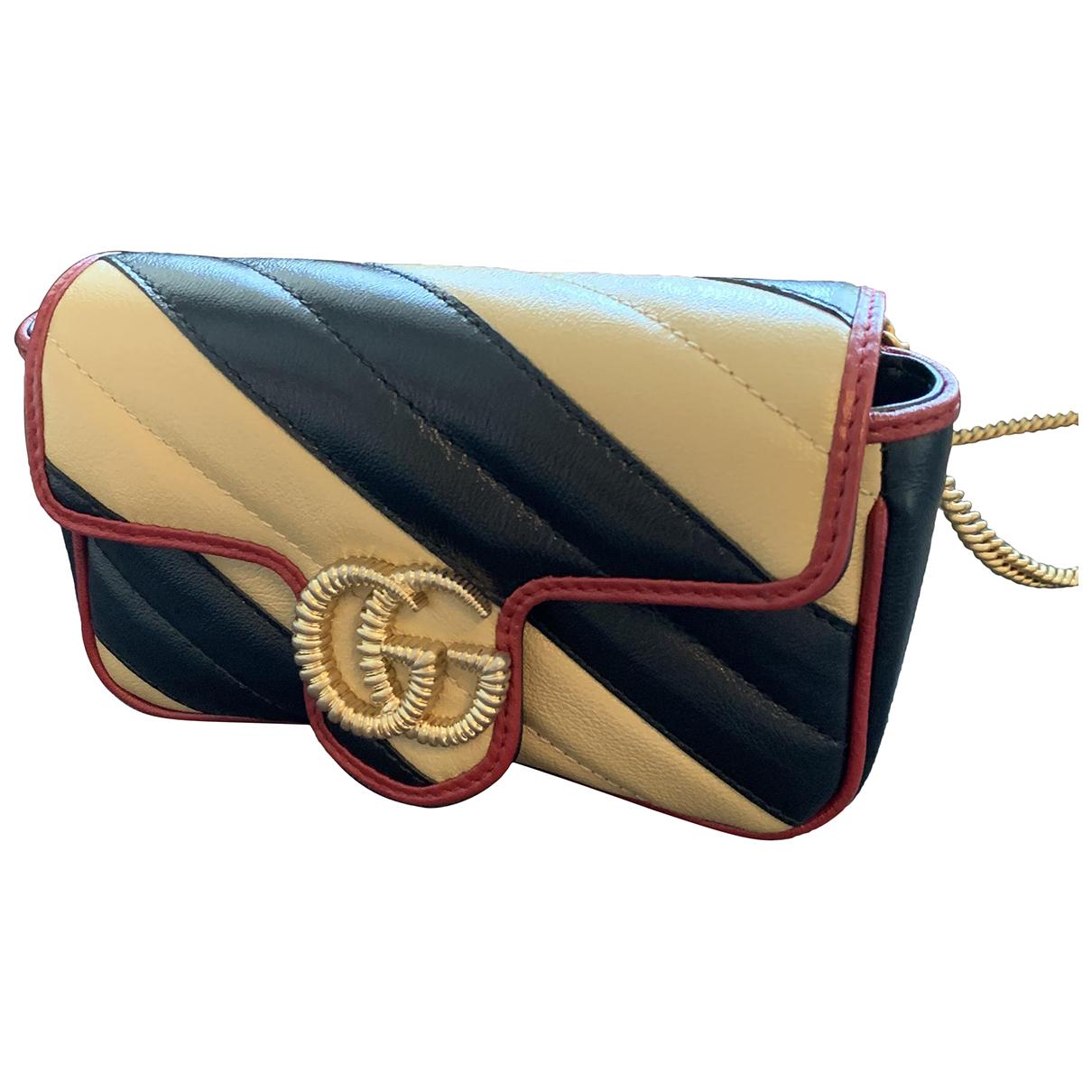 Gucci - Sac a main Marmont pour femme en cuir - beige