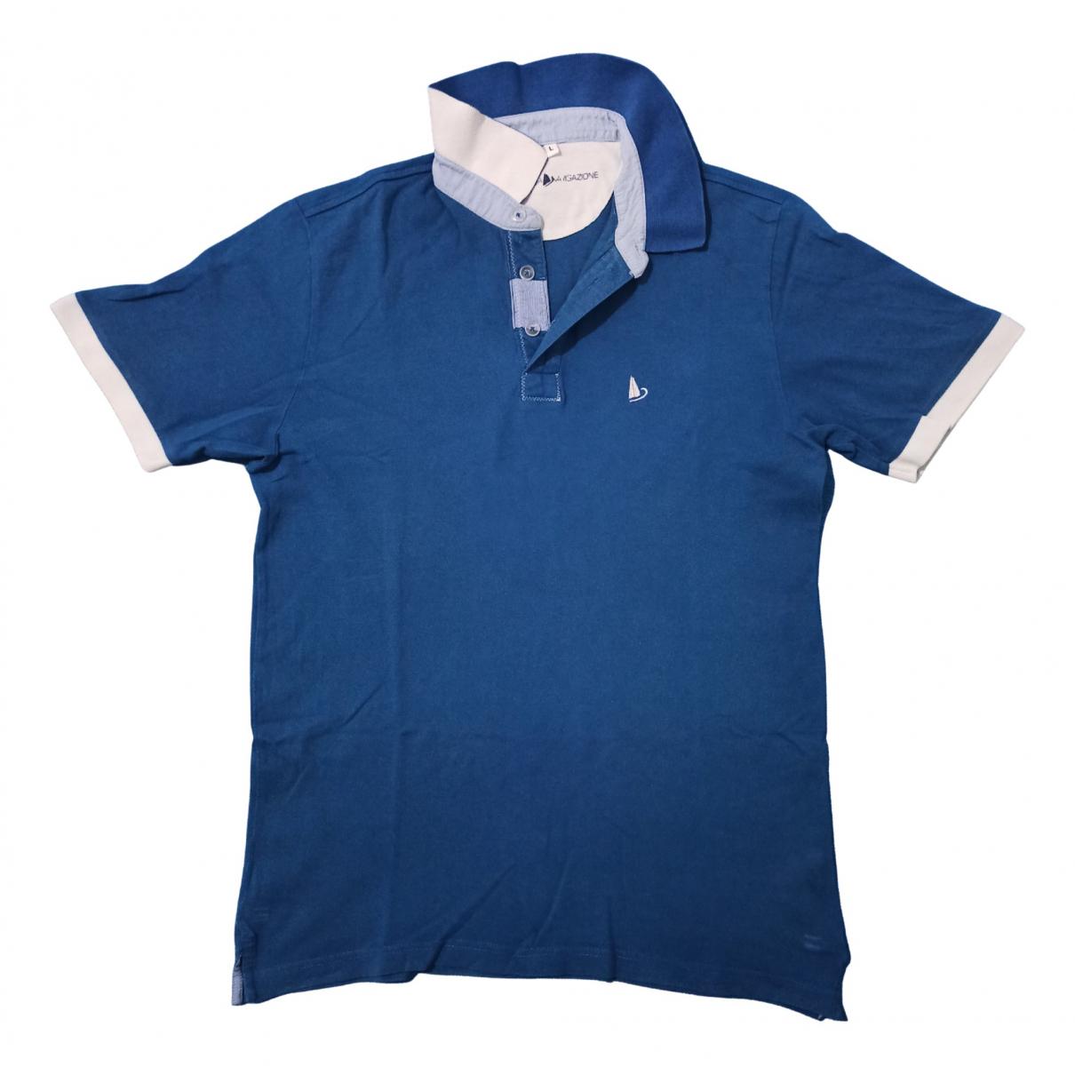 Polo en Algodon Azul Non Signe / Unsigned