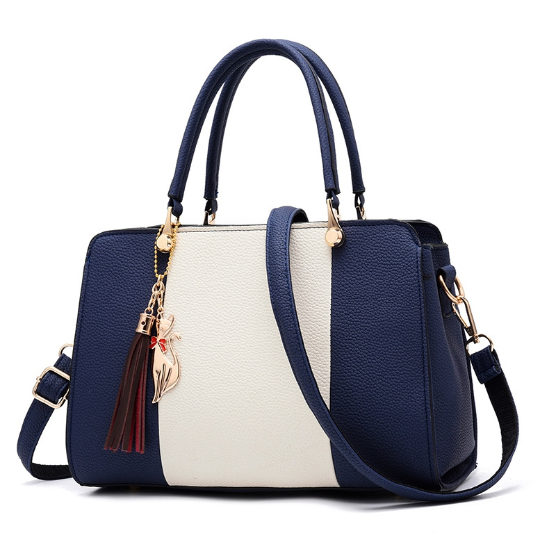 Ericdress Color Block PU Women Handbag