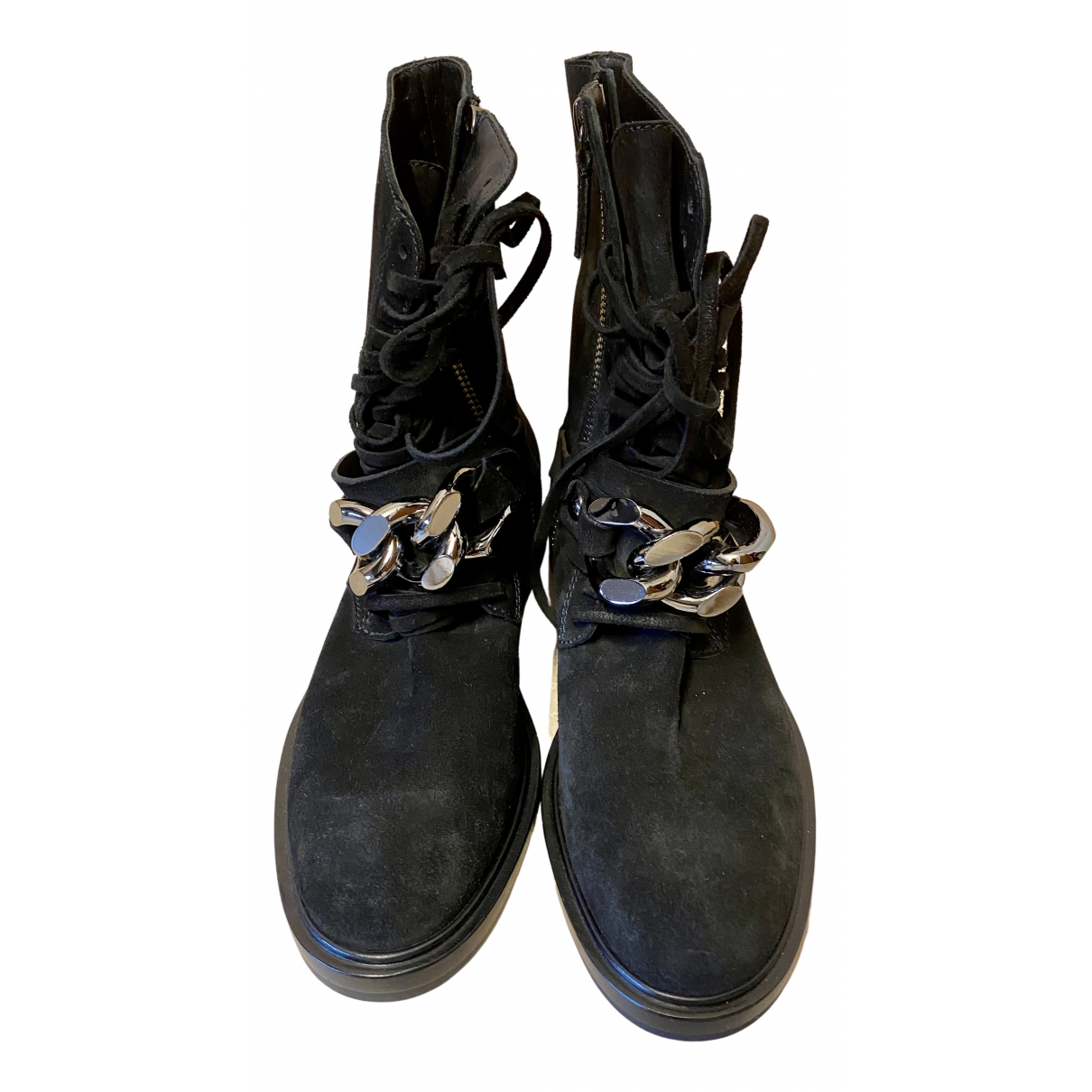 Casadei N Black Suede Boots for Women 37 EU