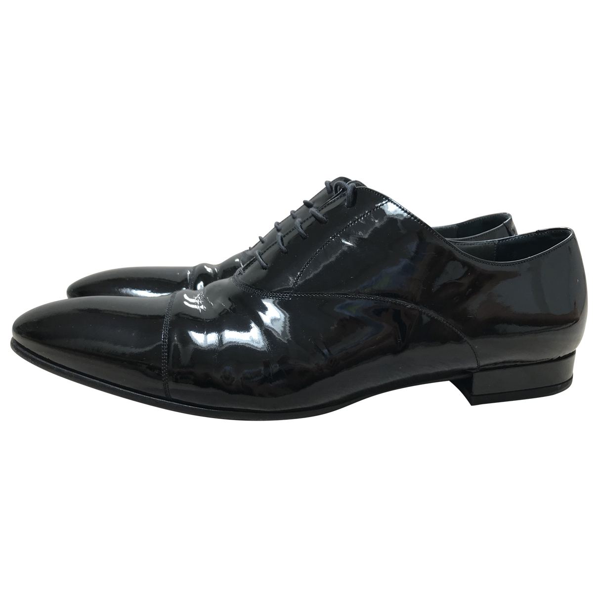 Versace \N Black Patent leather Lace ups for Men 43 EU