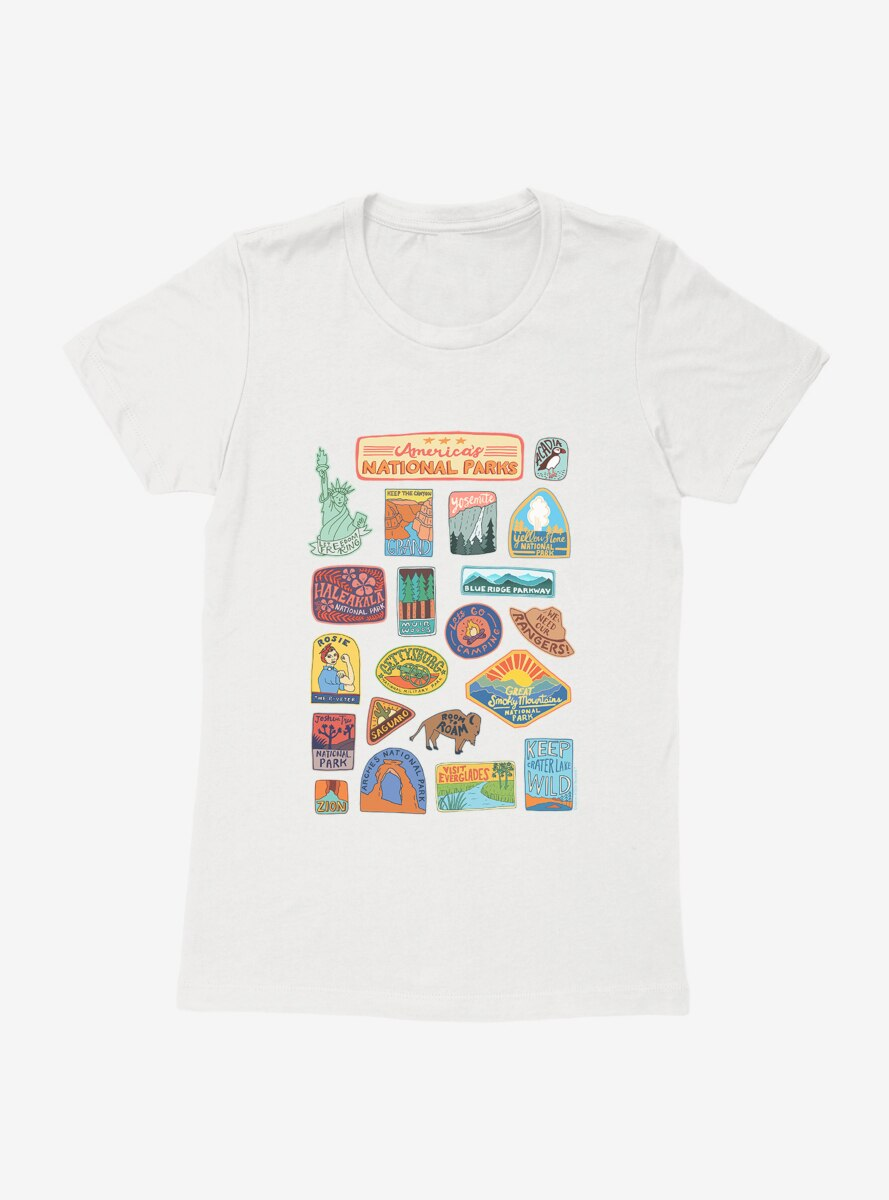 See America National Park Stickers Womens T-Shirt