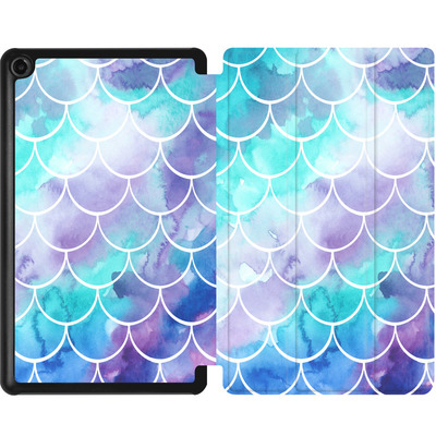 Amazon Fire 7 (2017) Tablet Smart Case - Purple Mermaid Scales von Becky Starsmore