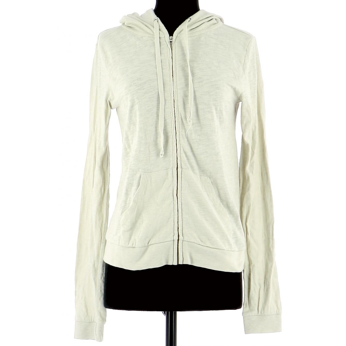 American Vintage - Pull   pour femme en coton - blanc