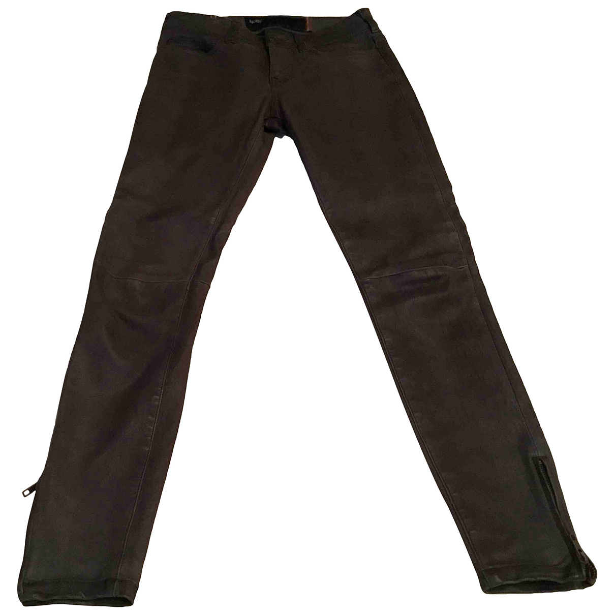 Notify N Grey Leather Trousers for Women 6 UK