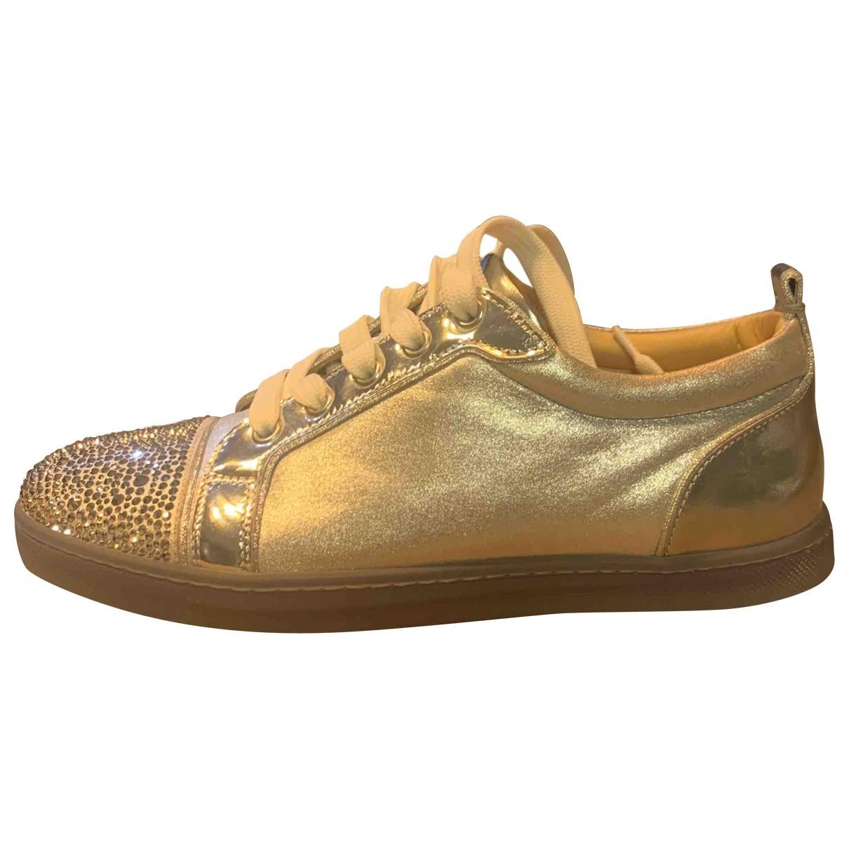 Christian Louboutin Gondolita Sneakers in  Silber Mit Pailletten