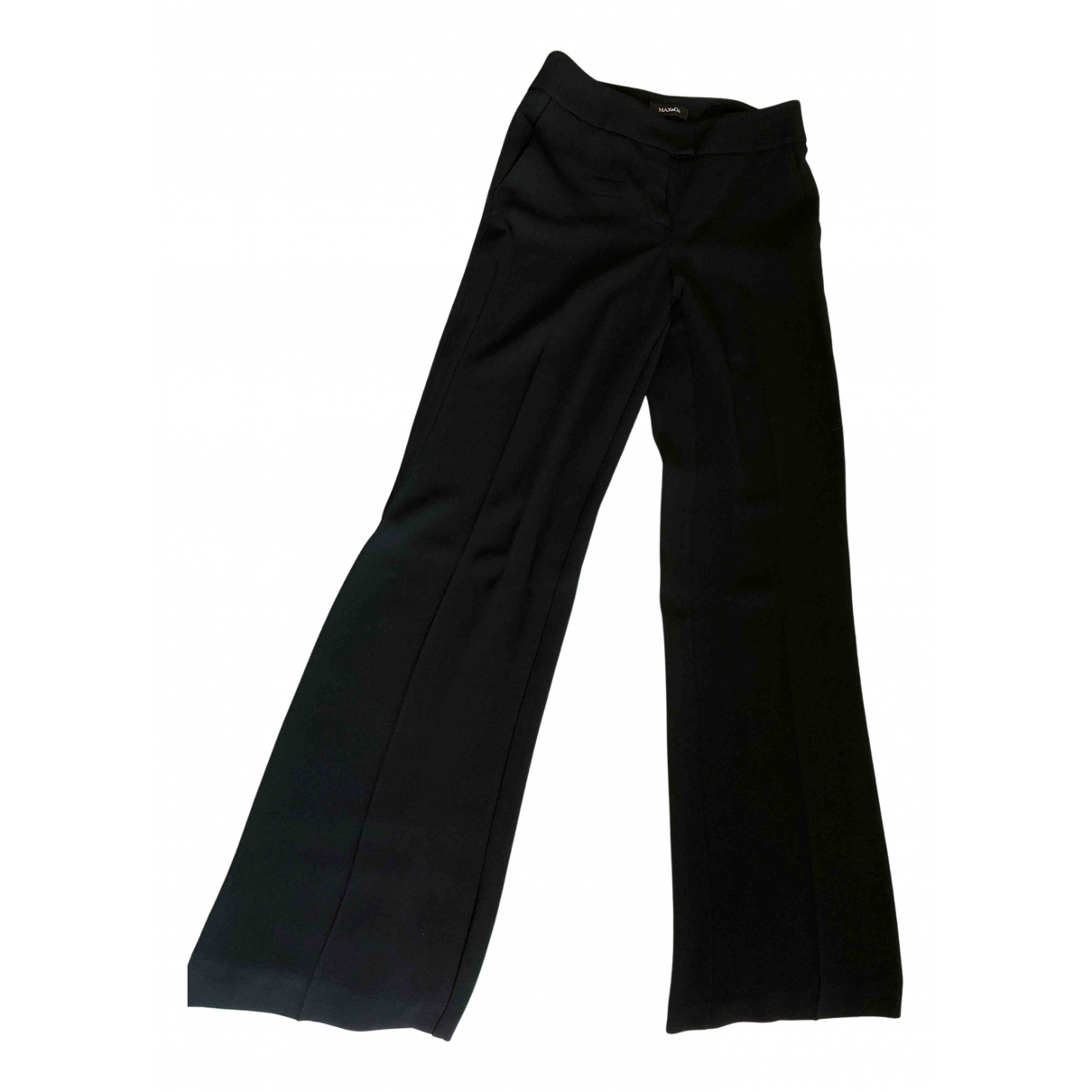 Max & Co N Black Trousers for Women 38 IT