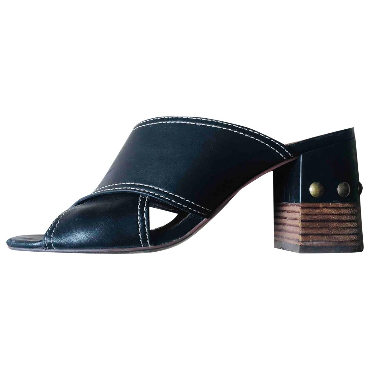 See By Chloe - Sandales   pour femme en cuir - noir