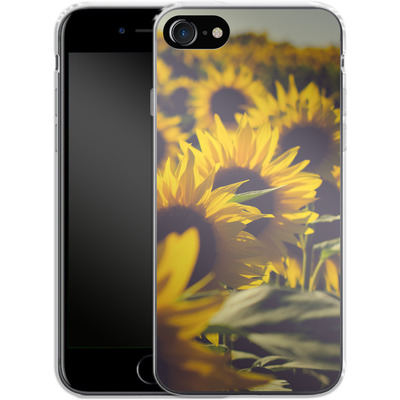 Apple iPhone 7 Silikon Handyhuelle - Sunflower 2 von Joy StClaire