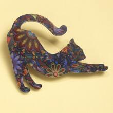 Cat Design Brooch