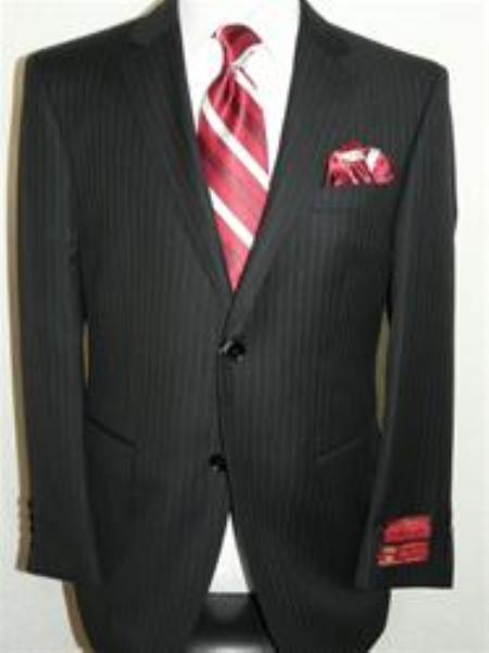 Pin Stripe Suit By Mantoni