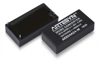 Artesyn AEE20W-M 20W Isolated DC-DC Converter Through Hole, Voltage in 18 → 36 V dc, Voltage out 12V dc Medical