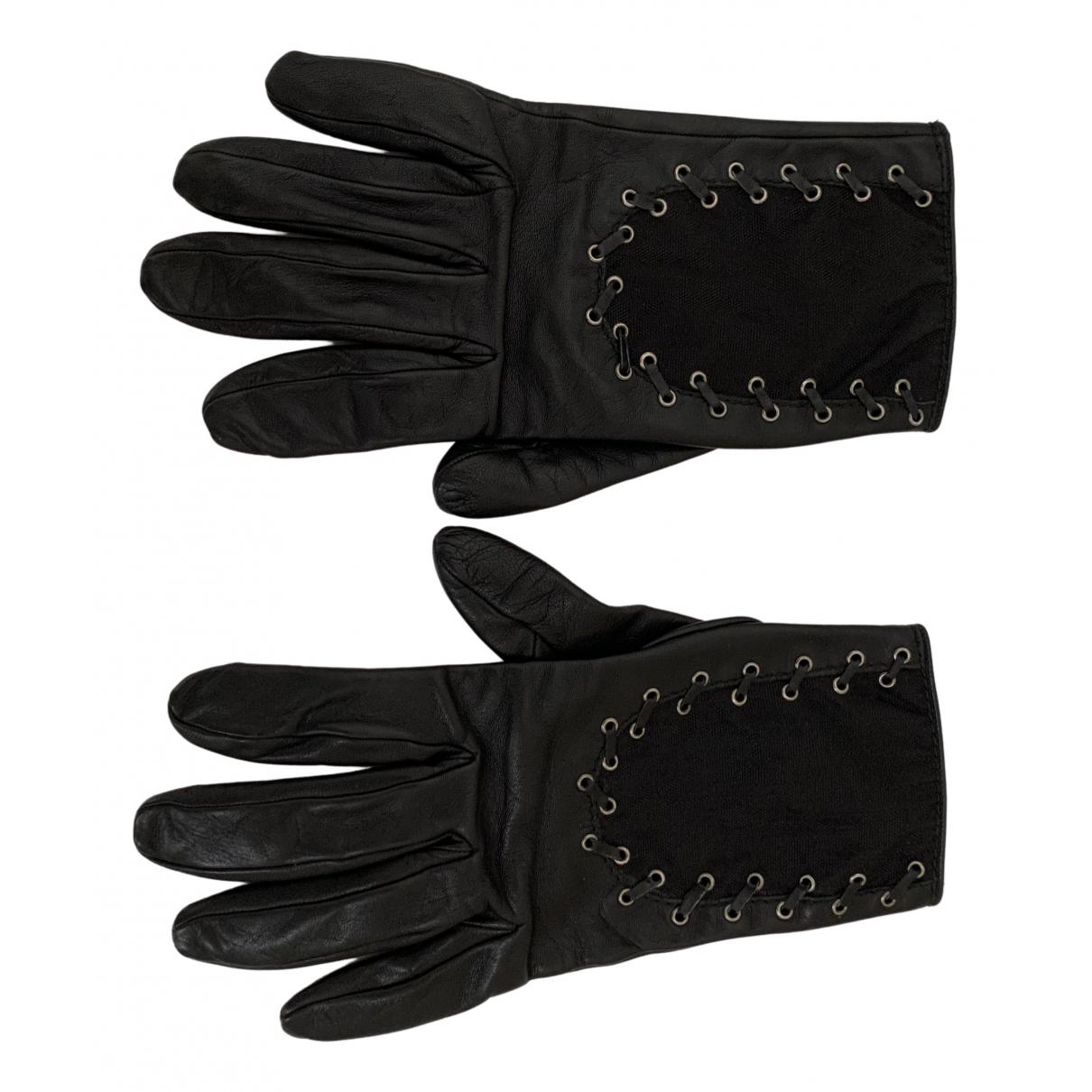 Christian Dior - Gants   pour femme en cuir - noir