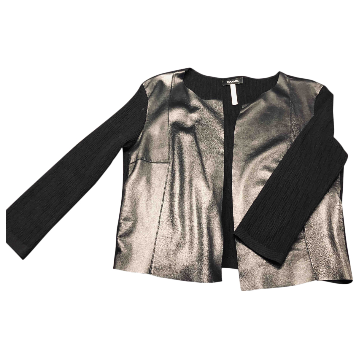 Max & Co \N Black Leather jacket for Women M International