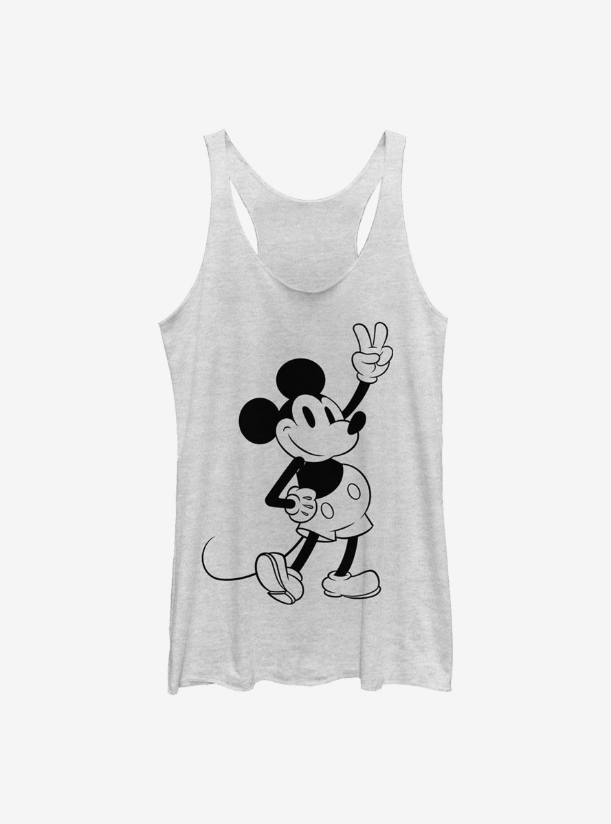 Disney Mickey Mouse Simple Mickey Outline Womens Tank Top