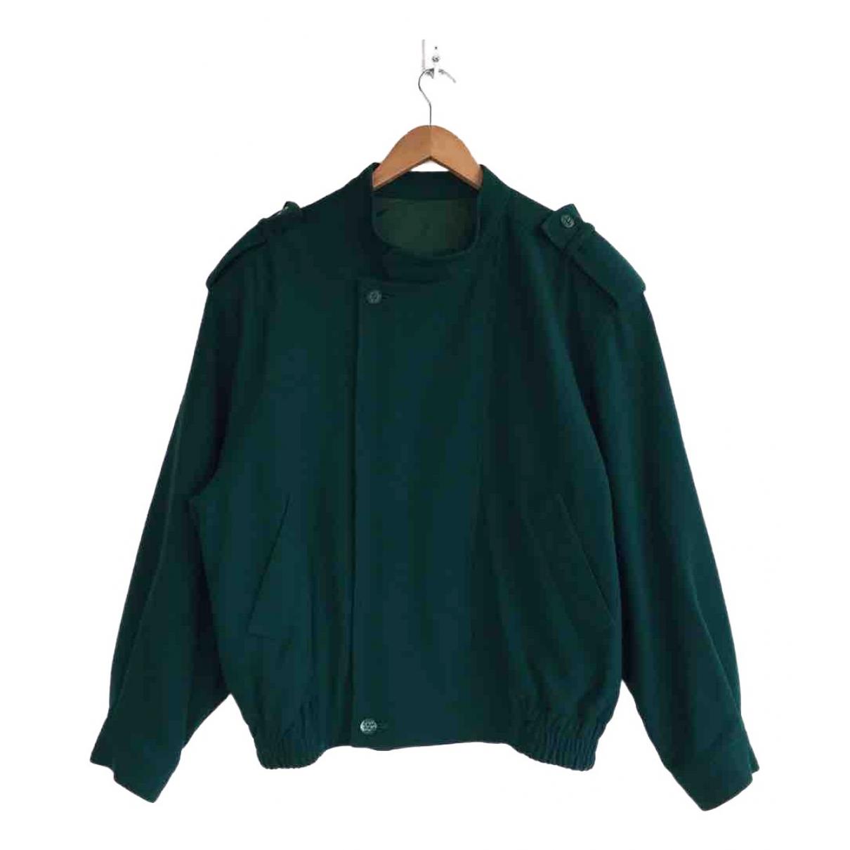 Balenciaga \N Jacke in  Gruen Wolle