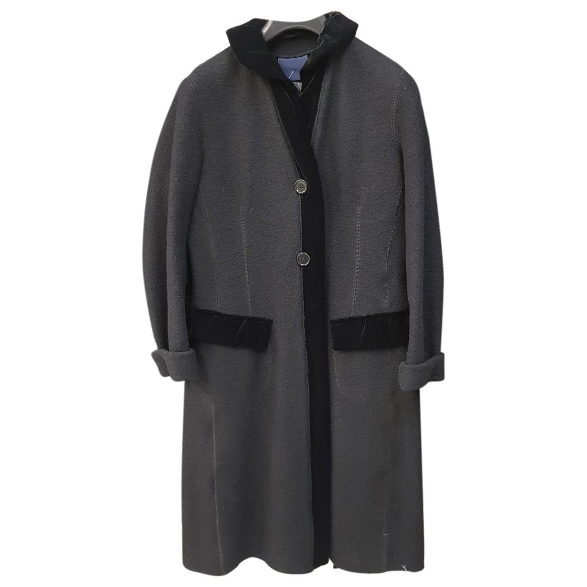 Aspesi N Black Wool coat for Women 42 IT
