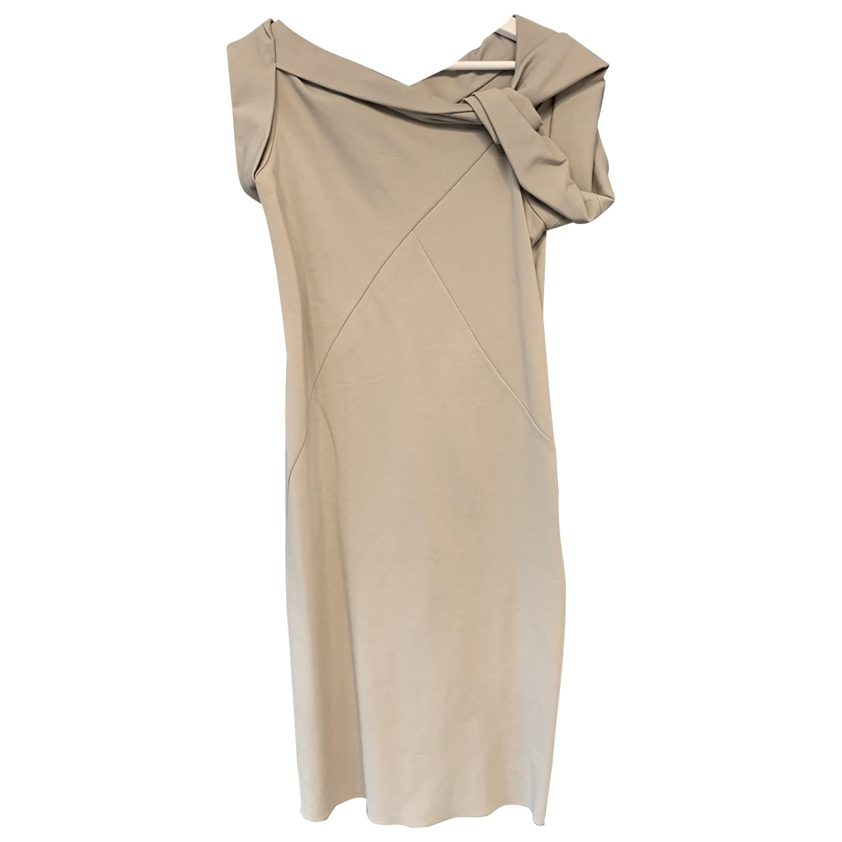 Emporio Armani \N Kleid in  Grau Viskose