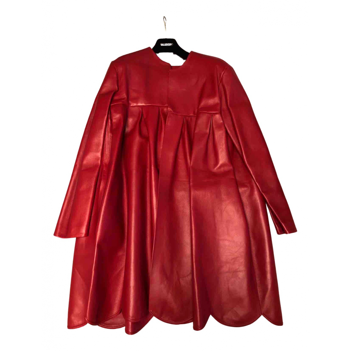 Valentino Garavani \N Red Leather coat for Women 44 IT