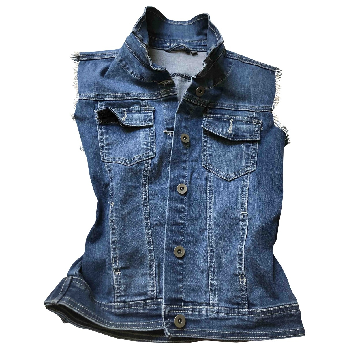 Non Signé / Unsigned \N Blue Denim - Jeans jacket for Women M International