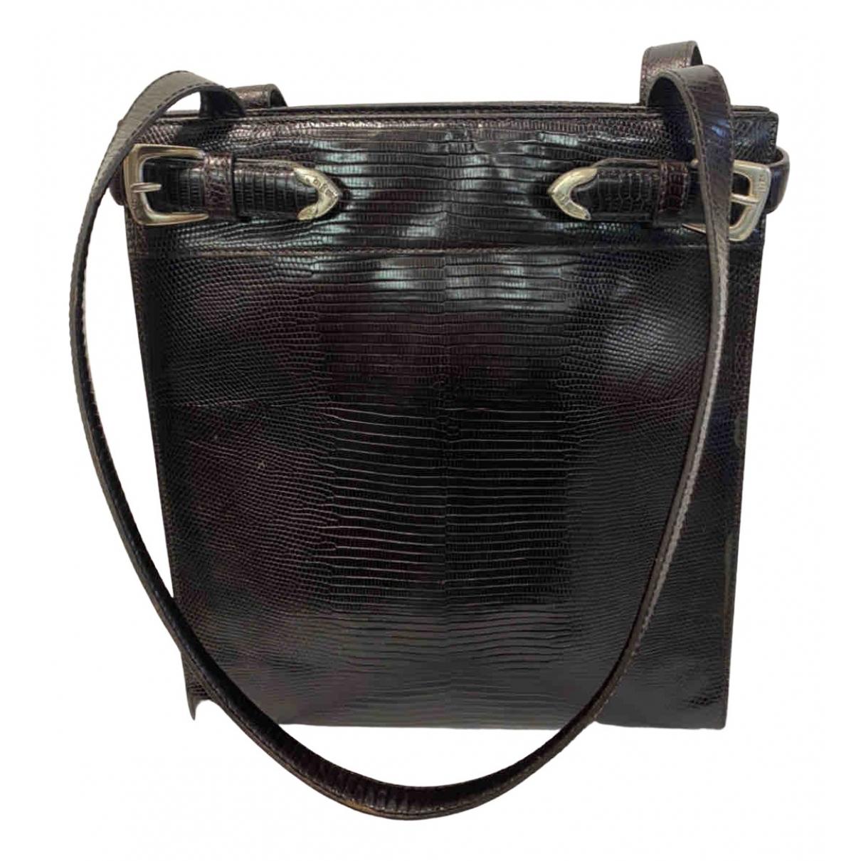 Ralph Lauren \N Handtasche in  Braun Leder