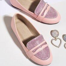 Kleinkind Maedchen zweifarbige Loafers