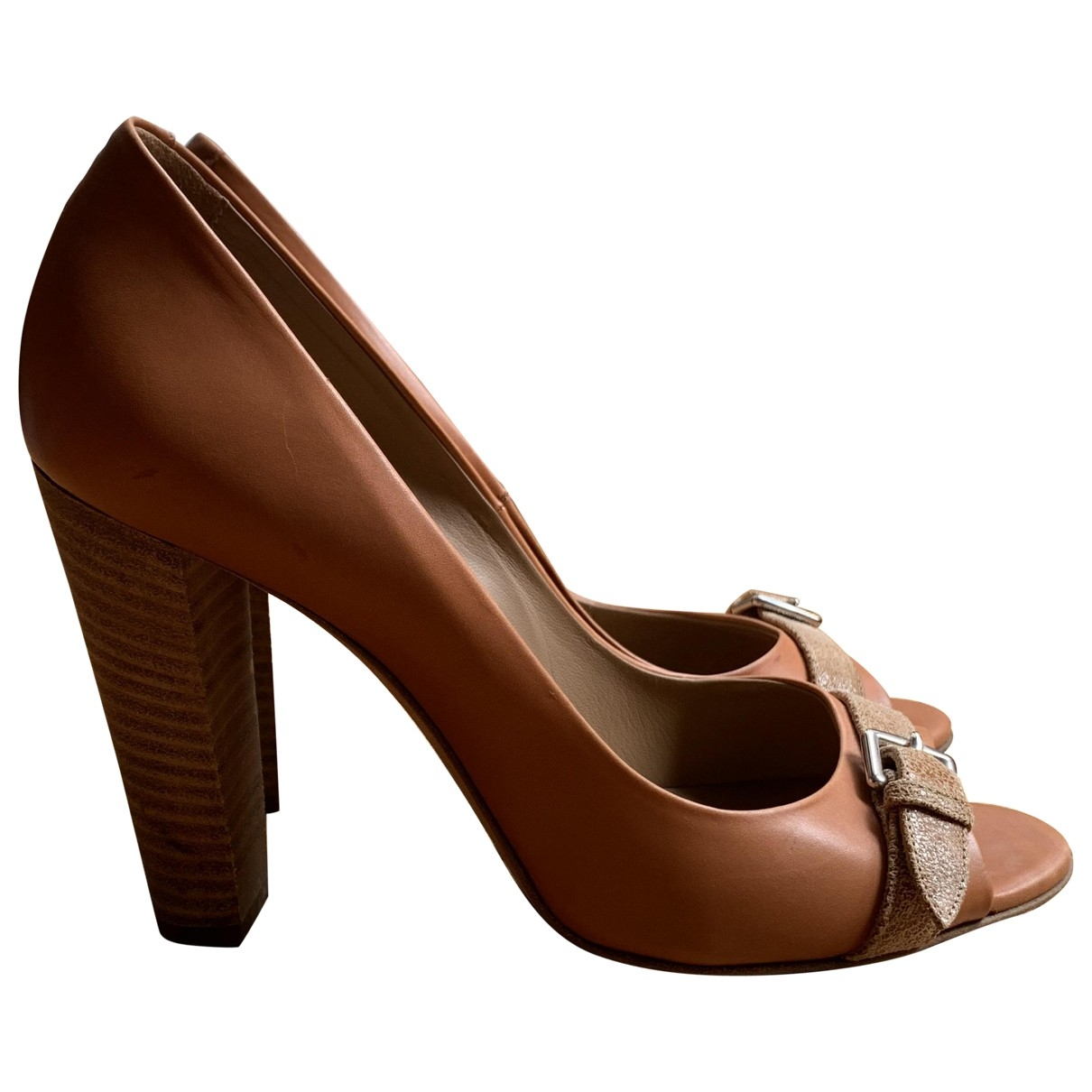 Hermès \N Camel Leather Heels for Women 38.5 EU