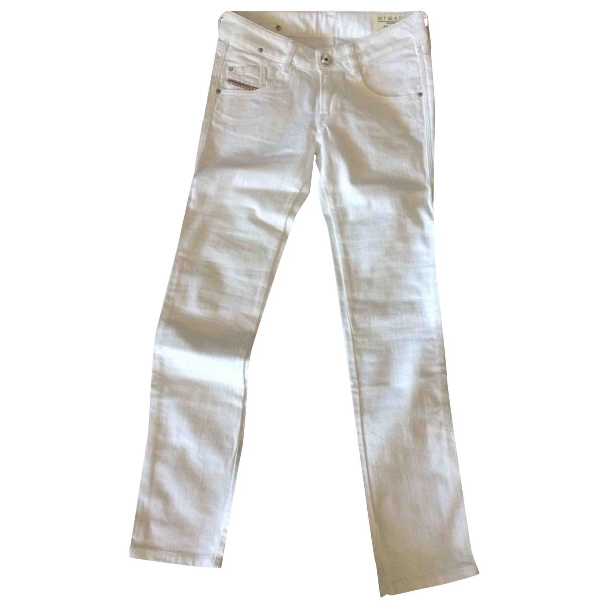 Diesel \N Ecru Cotton - elasthane Jeans for Women 34 FR