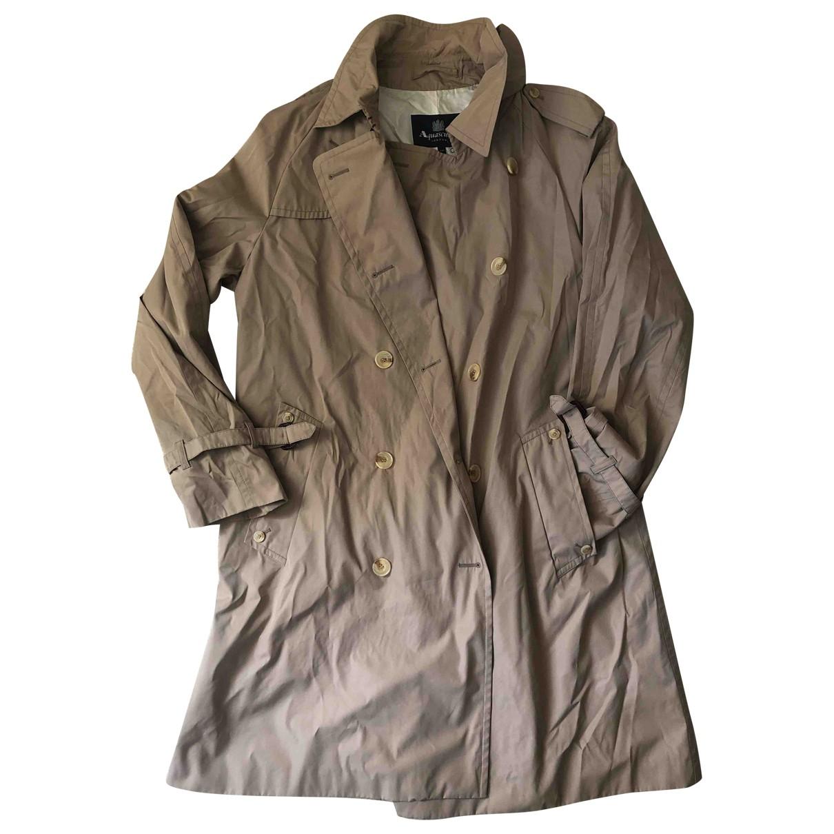 Aquascutum \N Beige coat  for Men 44 UK - US